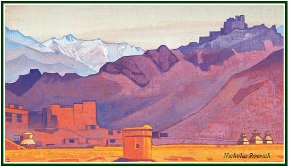 A Carta do Grande Mestre Roerich com créd e mold